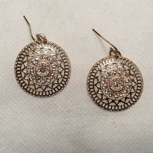Jewelry - Filigree and Crystal Earrings